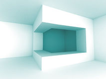 Abstract White Architecture Empty Interior Background. 3d Render Illustration Royalty Free Stock Photography