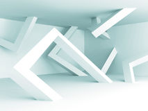 Abstract White Architecture Empty Interior Background. 3d Render Illustration Stock Photo