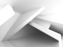 Abstract White Architecture Empty Interior Background Stock Image