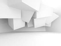 Abstract White Architecture Empty Interior Background Royalty Free Stock Images