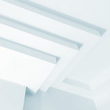 Abstract white architecture fragment, design Royalty Free Stock Photo