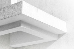 Abstract white architecture fragment with walls Royalty Free Stock Photos
