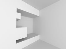 Abstract White Architecture Wall Background. 3d Render Illustration vector illustration