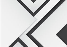 Abstract white arrows on black background with paper art style. For business template.Vector illustration Royalty Free Stock Image