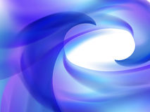 Abstract white background with blue and purple wavy lines Stock Image