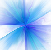 Abstract white background with blue or turquoise color flower. Or rays in the center texture, fractal Stock Photo