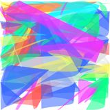 Abstract white background of colored swirling lines of petals like a fan. Abstract white background long green and yellow and blue and red and pink lines are royalty free illustration