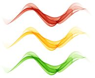 Abstract white background with colorful lines in the form of waves. Abstract white background with colorful lines in the form of abstract smoke Stock Image