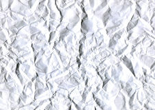 Abstract white background of crumpled white paper sheet Royalty Free Stock Image