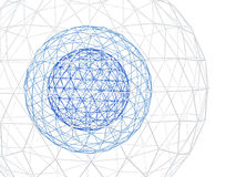 Abstract white background with 3d lattice Royalty Free Stock Photo