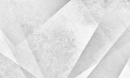Abstract white background design with modern angles and layer shapes with gray grunge texture. Faded abstract white geometric background design with triangles Royalty Free Stock Photo