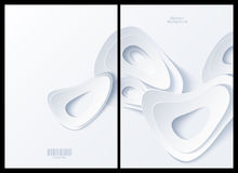 Abstract white background. Front and back Royalty Free Stock Photography