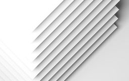 Abstract background, pattern of corners. Abstract white background, geometric pattern of paper sheets. 3d render illustration Royalty Free Stock Photography