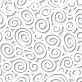 Abstract white background Geometric spiral seamless pattern Royalty Free Stock Image