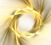 Abstract white background with golden wreath with rays pattern,. Fractal texture vector illustration