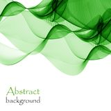 Abstract white background with green lines in the form of waves Stock Photo