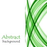 Abstract white background with green lines in the form of waves. Abstract white background with green waves stock illustration