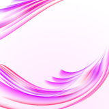 Abstract white background with pink striped waves texture, blank. Copy space, vector illustration Stock Photos