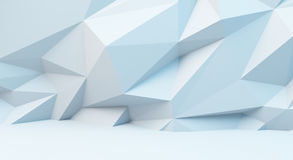 Abstract white background with polygonal pattern. 3d image. Abstract white background with polygonal pattern. 3d illustration Royalty Free Stock Photos