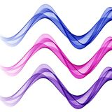 Abstract background with purple and pink waves of transparent flying material. Abstract white background with purple and pink and blue waves of transparent stock illustration