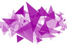 Abstract white background with purple triangles, geometric. Abstract  abstract white background  with purple triangles  Fine art  background  color  design Stock Image