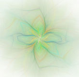 Abstract white background with rainbow or green color flower Stock Images