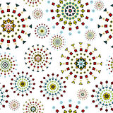 Abstract white background with stylized flowers. Made of geometrical shapes stock illustration