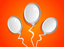 Abstract white balloons. Vector background with abstract white balloons Stock Images
