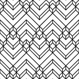 Abstract White & Black Light Chevron Geometric Pattern stock illustration