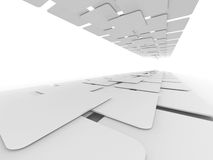 Abstract White Blank Squares Design Background Royalty Free Stock Photo