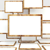 Abstract white blank wood Stock Photography