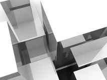 Abstract White Blocks Stock Image
