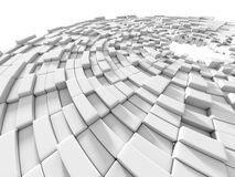 Abstract White Blocks Design Background. 3d Render Illustration Royalty Free Illustration
