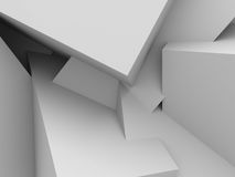 Abstract White Blocks Structure Wall Background. 3d Render Illustration Royalty Free Stock Photo