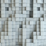 Abstract white blocks. Template background for your design. 3d illustration Royalty Free Stock Photos
