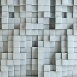 Abstract white blocks Royalty Free Stock Photos
