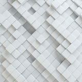 Abstract white blocks. Template background for your design. 3d illustration Royalty Free Stock Photo