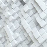 Abstract white blocks Royalty Free Stock Photography