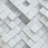 Abstract white blocks. Template background for your design. 3d illustration Royalty Free Stock Images