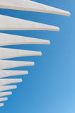 Abstract white and blue architecture, Malaga Stock Photos