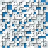 Abstract white and  blue background with mosaic. Stock Images
