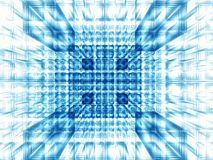 Abstract fractal well or tunnel - digitally generated image. Abstract white and blue fractal background - computer-generated 3d illustration. Digital art: blocks stock illustration