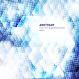 Abstract white and blue geometric hexagons shapes overlapping background with dots halftone. Technology concept vector illustration