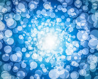Abstract white blue hole  bokeh wallpaper Royalty Free Stock Images