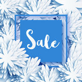 Abstract White Blue Spring Summer Sale banner for business. Royalty Free Stock Image