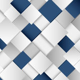 Abstract white and blue square background Stock Images