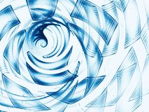 Abstract white and blue swirl or tunnel digitally generated imag. Abstract white and blue swirl or tunnel - computer-generated image. Pal fractal backdrop with royalty free illustration