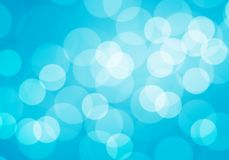 Abstract white bokeh blur on blue luxury background vector. Illustration Royalty Free Stock Photography