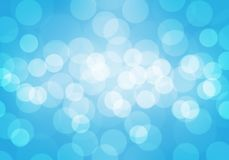 Abstract white bokeh blur on blue luxury background vector. Illustration Stock Photography