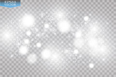 Abstract white bokeh effect explosion with sparks modern design. Glow star burst or firework light effect. Sparkles Royalty Free Stock Photography